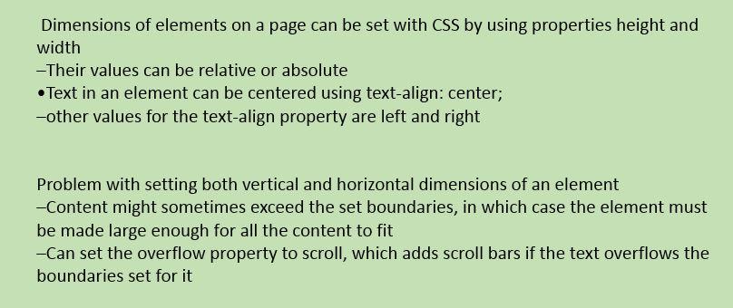 CSS Element Dimensions